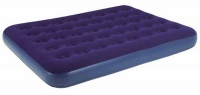 кровать relax flocked air bed double 191x137x22см синий 20256
